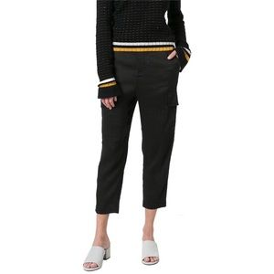 nwt vince  linen-blend slim cropped cargo pants